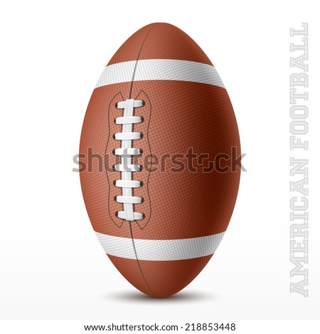 American football on white. Vector illustration. - stock vector