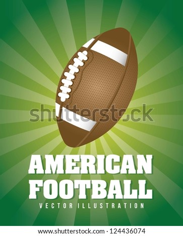 american football over green background. vector illustration