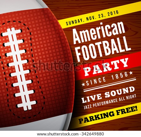 American football party. Vector background - stock vector
