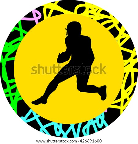 American football player - stock vector