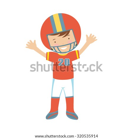 American Football player character illustration in vector format - stock vector