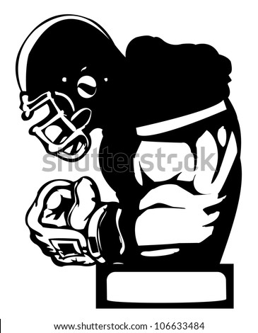 American football player icon - stock vector