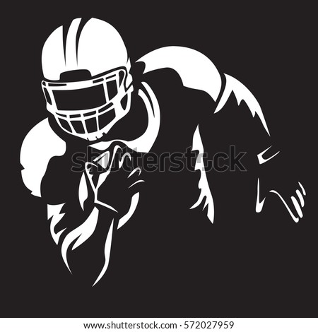 american football player quarterback isolated on stock vector