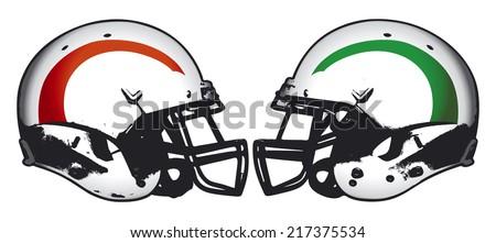 american football rivalry - stock vector