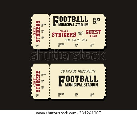 Football Ticket Stock Images, Royalty-Free Images & Vectors | Shutterstock