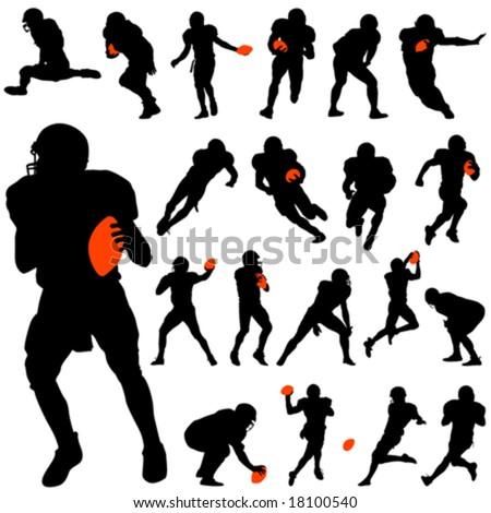 american football set - stock vector