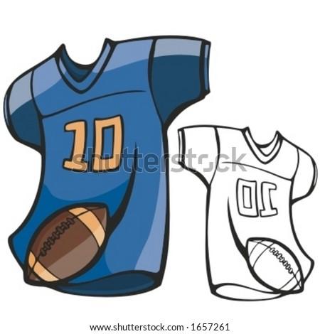 American football shirt and a ball. Vector illustration - stock vector