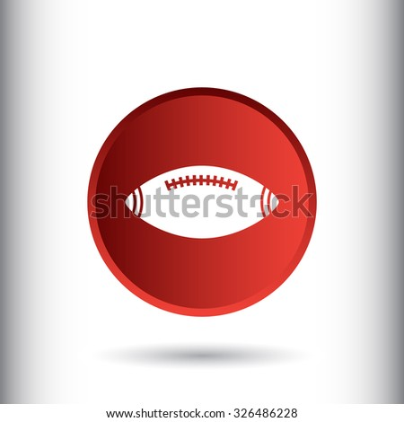 American football sign icon, vector illustration. Flat design style for web and mobile.