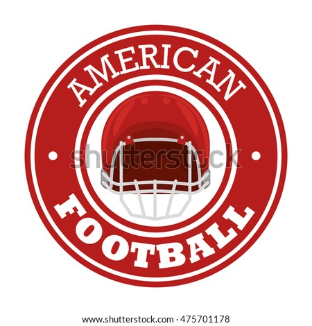 american football sport icon vector illustration design