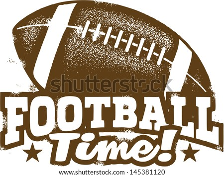 American Football Time - stock vector
