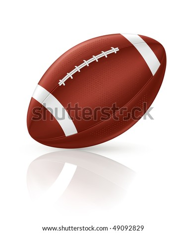 American Football, vector - stock vector