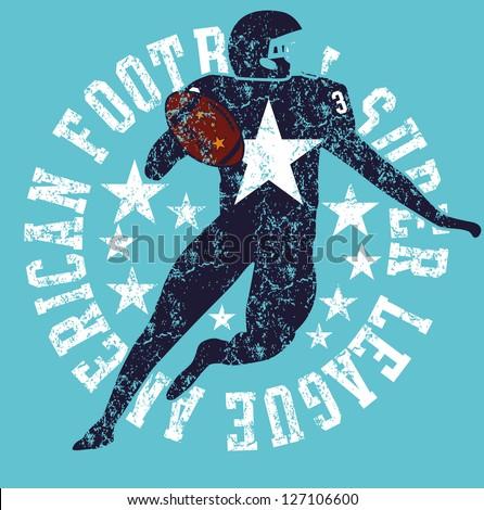 american football vector art - stock vector