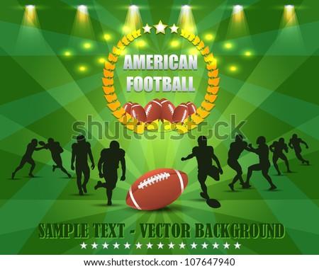 American Football Vector Design - stock vector