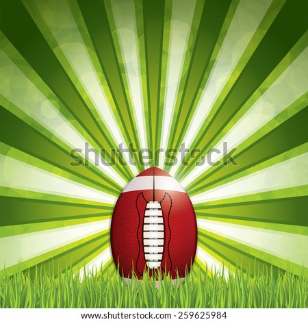 American football. Vector illustration - stock vector