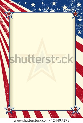American Frame Poster American Flag Large Stock Vector (2018 ...