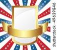 American Golden Banner - stock vector