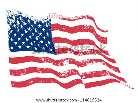American grunge flag. - stock vector