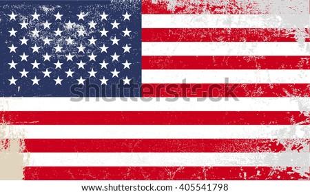 American grunge flag - Vector  illustration EPS 10 - stock vector