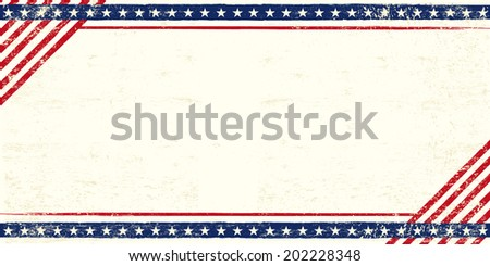 American grunge postcard. An american postcard for you with a large empty space for your text - stock vector