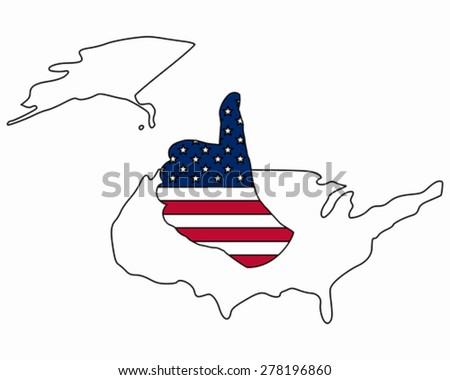 American hand signal - stock vector