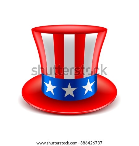 American hat independence day isolated vector illustration