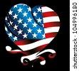 american heart - stock vector