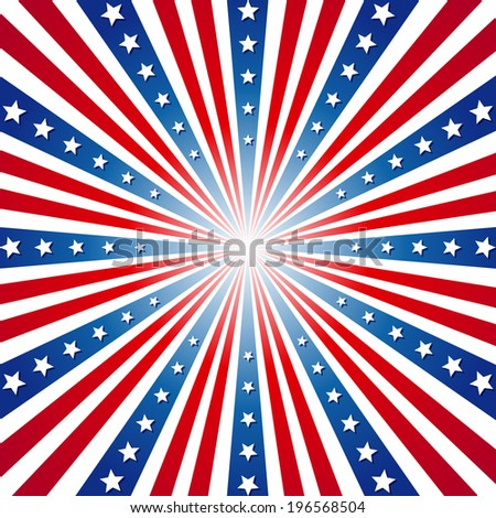 American Independence Day  Patriotic background. Vector illustration - stock vector