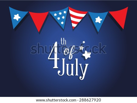 American Independence day, 4th of July, vector design background