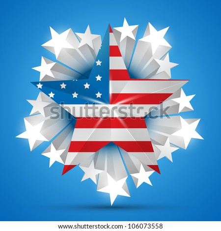 american independence day vector flag - stock vector