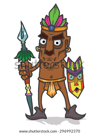 American Indian cartoon character