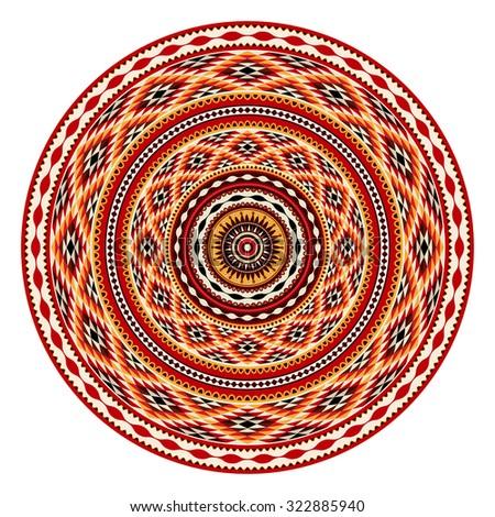 American Indian decorative vector ornament - stock vector
