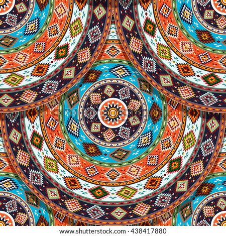 American Indian seamless pattern  for design - stock vector