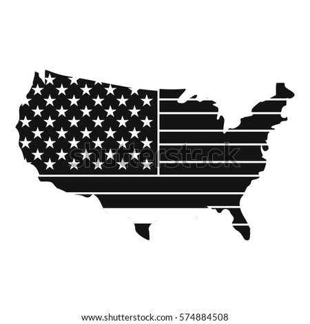 United states america map stock vector 718442092 shutterstock american map icon simple illustration of american map vector icon for web sciox Choice Image