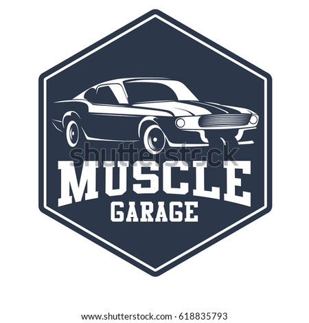 Muscle Car Set Stock Images Royalty Free Images Vectors