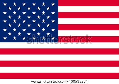 American or United States , US / USA Flag. Vector illustration flag for Independence Day or 4th of July. - stock vector
