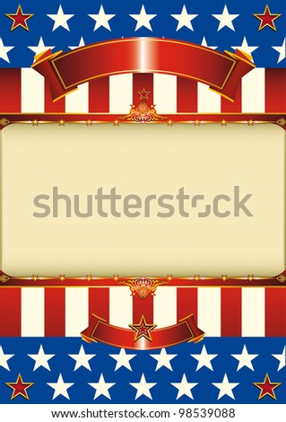 American patriotic frame. A patriotic poster with a space for your message - stock vector
