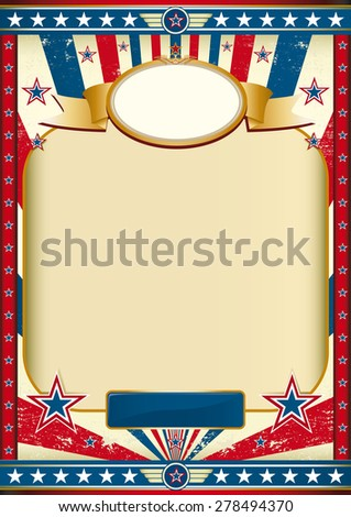 American poster retro. American poster for the independence day - stock vector