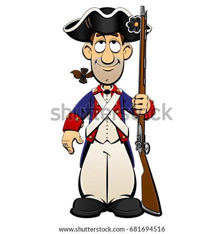 American Revolutionary War Soldier Continental Army Stock ... American Revolution Soldier Clipart