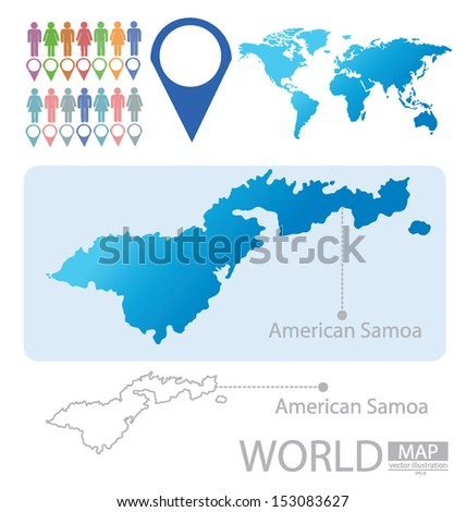 American Samoa Map Stock Images RoyaltyFree Images Vectors - Samoa map vector