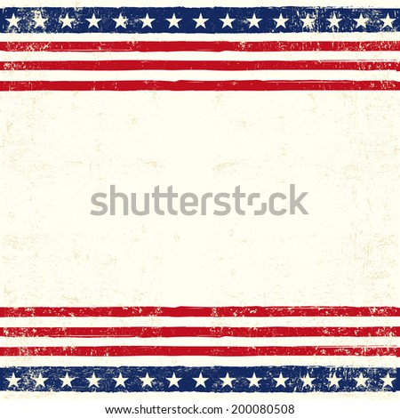 American square card. An american square background for a greeting card - stock vector
