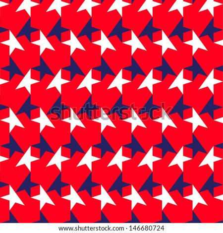 American Star Pattern - stock vector