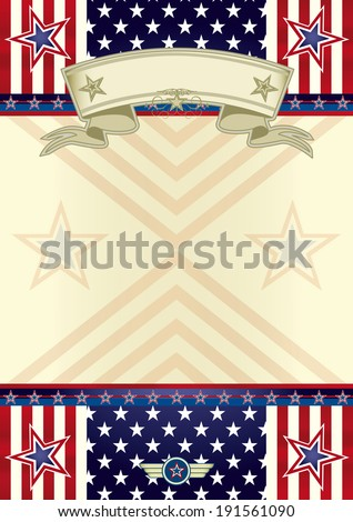 American theme. A background on american theme - stock vector