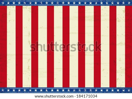 American theme background. An horizontal american poster for your message.  - stock vector