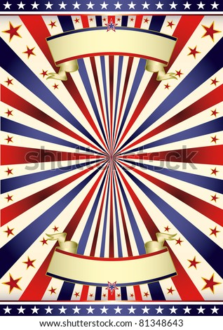 American US tricolor frame. A background for your advertising. - stock vector