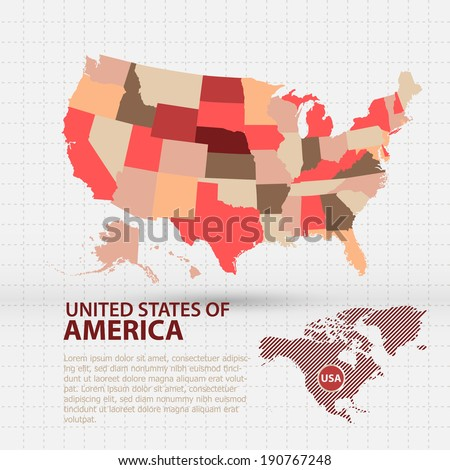 american vector - stock vector