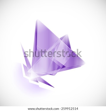 amethyst shard crystal icon logo vector template - stock vector