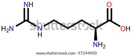 Amino acid arginine structural formula - stock vector
