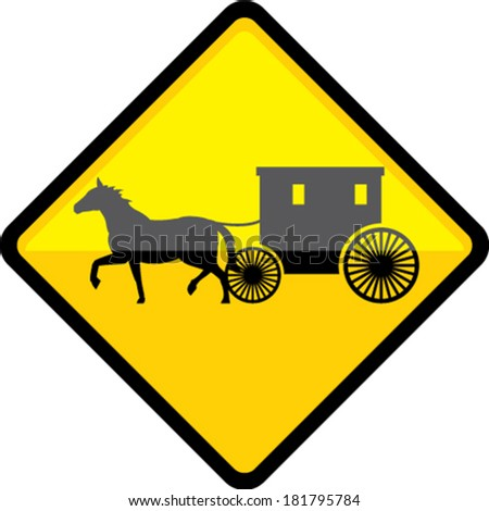 Amish Sign - stock vector