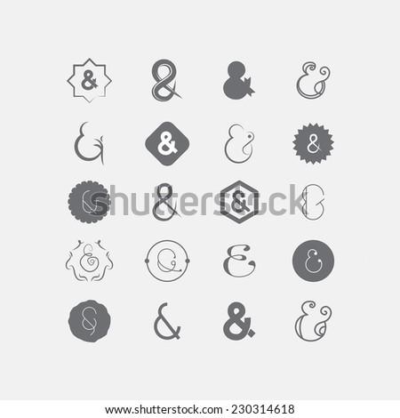 Ampersand - stock vector