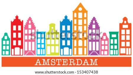 Amsterdam Skyline - stock vector